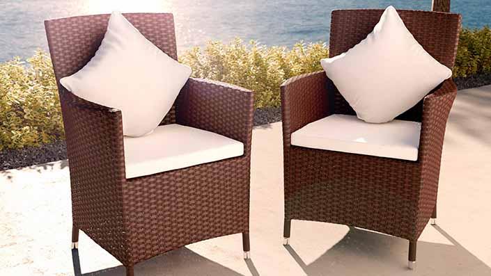 Dos sillas de resina trenzada - Dos sillas de resina trenzada
