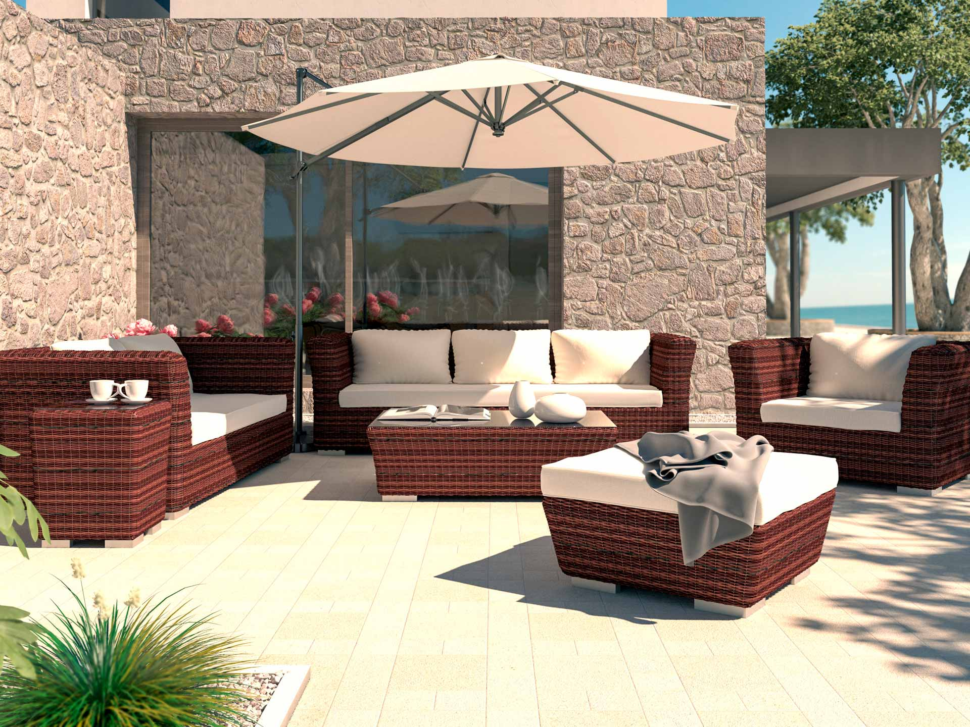 Mueble de resina para exterior amazing muebles de jardn baratos muebles de jardin baratos with - Dazzling sofas baratos beautifying your house ...