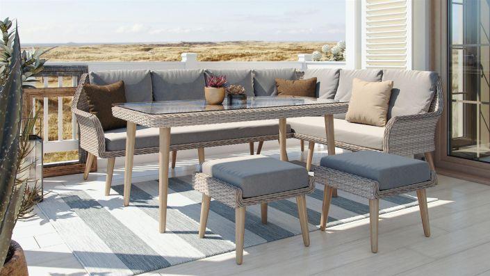 Sahara - Conjunto de mesa y sillones